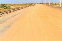 Vieux chemin de fer au Soudan Image stock