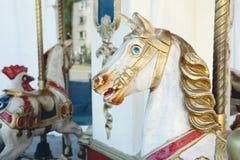 Vieux cheval de carrousel Photographie stock libre de droits