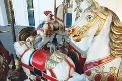 Vieux chevaux de carrousel Photos libres de droits