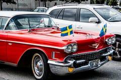 Vieux Chevrolet classique rouge Image libre de droits