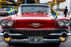 Vieux Chevrolet classique rouge Photo stock