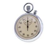vieux chronomètre d'isolement images stock