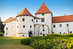 Vieux château de ville dans Varazdin Photos libres de droits