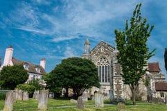 Vieux cimetière à Rye dans le Sussex est photo libre de droits