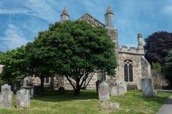 Vieux cimetière à Rye dans le Sussex est images libres de droits