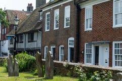 Vieux cimetière à Rye dans le Sussex est photo stock
