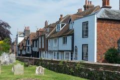 Vieux cimetière à Rye dans le Sussex est photos libres de droits