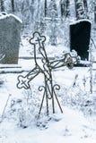 Vieux cimetière au village abandonné Photos libres de droits