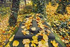 Vieux cimetière en automne image libre de droits
