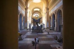 Vieux cimetière intérieur Image stock