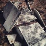 Vieux cimetière juif Photographie stock