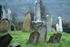 Vieux cimetière juif dans Dolnà Kounice, République Tchèque Photo stock