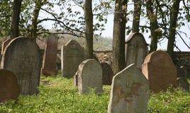 Vieux cimetière juif dans la République Tchèque Photo stock