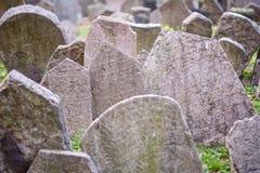 Vieux cimetière juif de Prague Images stock