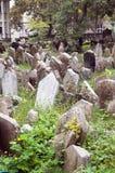 Vieux cimetière juif Prague quart juif Images stock