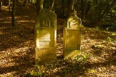 Vieux cimetière juif Images libres de droits