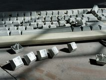 Vieux clavier Photo stock