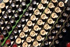 vieux clavier de calculatrice Photos stock