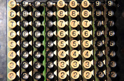 vieux clavier de calculatrice Photographie stock libre de droits