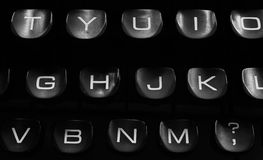 Vieux clavier de machine à écrire Photos libres de droits