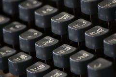 Vieux clavier de machine à écrire thaï classique Photographie stock