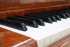 Vieux clavier de piano Photo stock