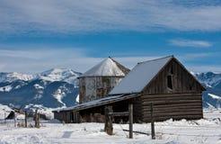 Vieux cloche et silo Photo libre de droits