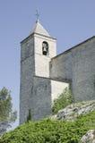 Vieux clocher d'église dans Rochefort du le Gard Photos stock