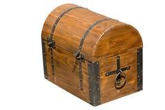 Vieux coffre en bois brun images stock