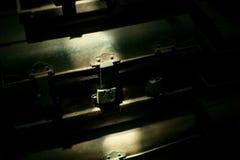 Vieux coffres en acier Photos libres de droits