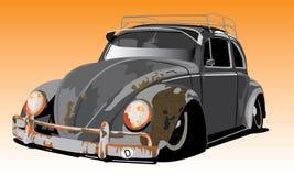 Vieux coléoptère de VW illustration stock