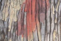 Vieux coloré extérieur en bois criqué de fond Photos libres de droits