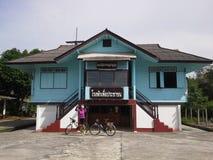 Vieux commissariat de police thaïlandais Hadyai, Thaïlande Photos stock