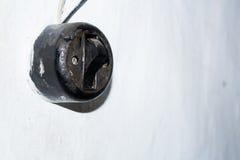 Vieux commutateur électrique de mur Photo libre de droits