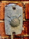 Vieux commutateur en métal photographie stock