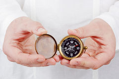 Vieux compas Photos stock