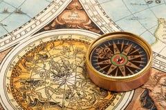 Vieux compas Photo stock