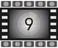 Vieux compte à rebours de film image libre de droits