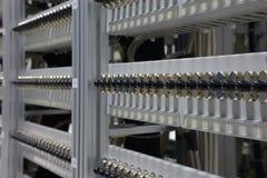 Vieux connecteur pour le système de télécommunication Photographie stock