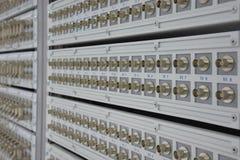 Vieux connecteur pour le système de télécommunication Photo libre de droits
