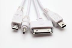 Vieux connecteurs de téléphone standard Image stock