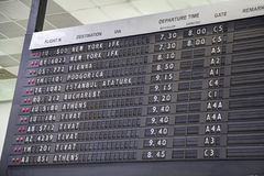 Vieux conseil de départ de vol Image stock