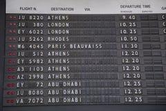 Vieux conseil de l'information de vol Image libre de droits
