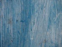 Vieux conseil en bois peint dans bleu-clair Photographie stock libre de droits
