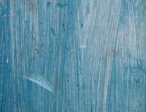 Vieux conseil en bois peint dans bleu-clair Photo libre de droits