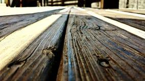 Vieux conseils en bois Image stock