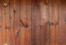 Vieux conseils en bois avec des noeuds et des éraflures Image libre de droits