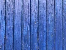 Vieux conseils et mur bleus et en bois Architecture, fond photographie stock