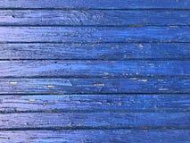 Vieux conseils et mur bleus et en bois Architecture et fond image stock