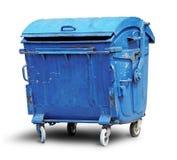 Vieux conteneur d'ordures en métal photo stock